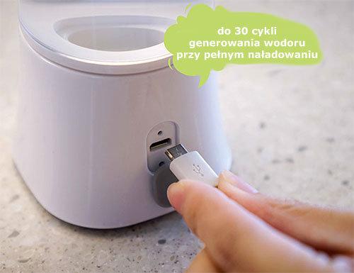 Ładowanie generatora wodoru Q-Cup Touch