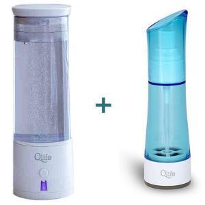 Jonizator wody generator wodoru Q-Cup oraz przenośny generator wody odkażającej HOCl Ion Clean+